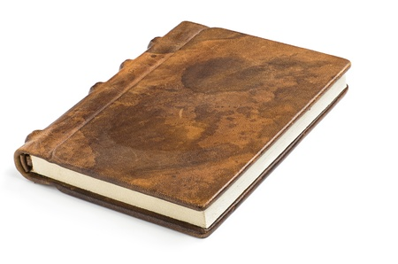 book binding: precious book with a noble leather cover