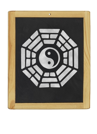 trigram: Bagua symbol on a blackboard