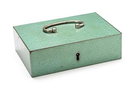lockbox: closed cash box Stock Photo