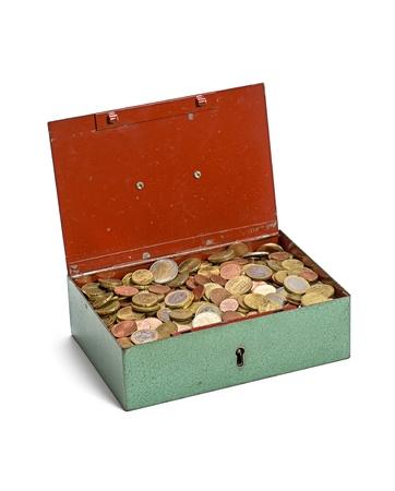 lockbox: open cash box Stock Photo