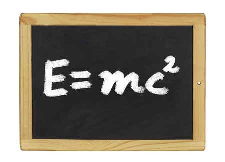 mc2: Einstein equation  written on a blackboard