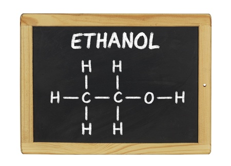 chemical formula of ethanol on a blackboard photo