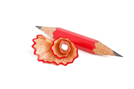 wood shavings: short pencil that is sharpened on both sides
