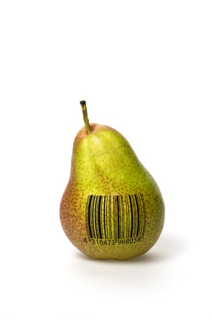 bar codes: Pear with barcode