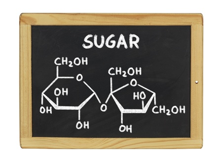 chemical formula of sugar on a blackboard photo