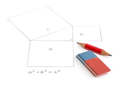 Teorema de Pitágoras Foto de archivo - 17591318