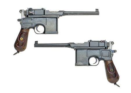 german handgun: german gun model Stock Photo