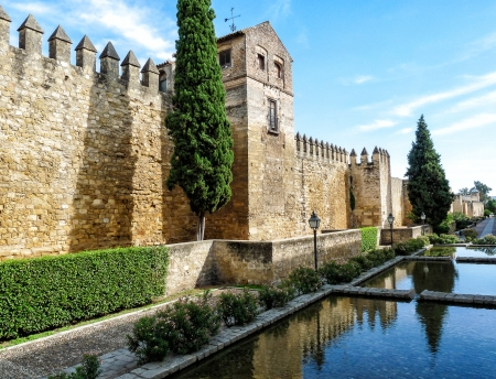 crenellated tower: Ancient town wall of Cordoba in Spain Editorial