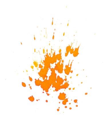 dripped: Orange ink splashes