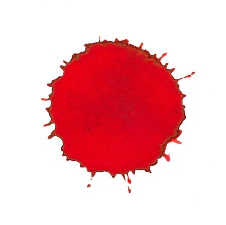 spilled paint: Red ink splash