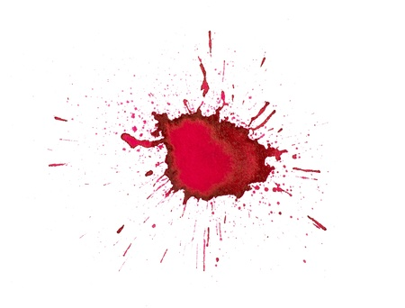 Red ink splashes photo