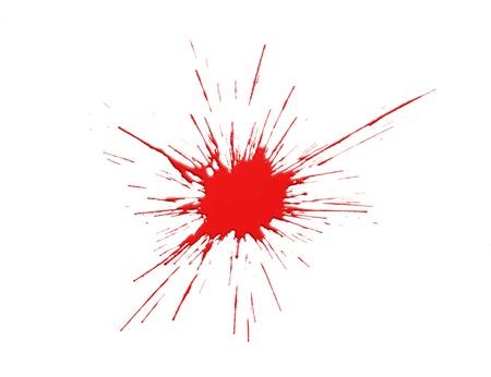 dripped: Red paint splash Stock Photo