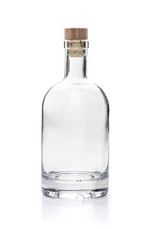 empty liquor bottle on a white background Stok Fotoğraf
