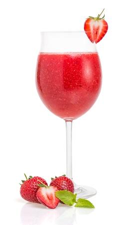 coctel margarita: Cóctel de fresa