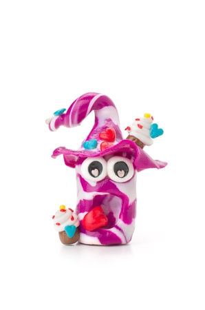 clay modeling: Handmade modeling clay figure with sweets