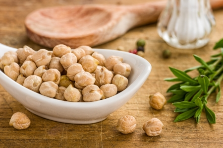 chickpeas: Bowl with chickpeas