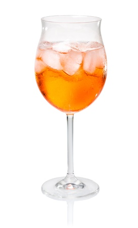 spritz: Aperol Spritz in a wine glass