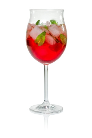 Cocktail met campari en munt Stockfoto