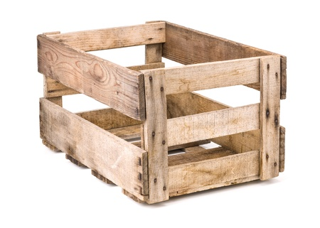 crate: vintage wooden wine crate Stock Photo