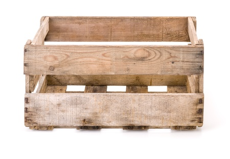 boxes: vintage wooden wine crate Stock Photo