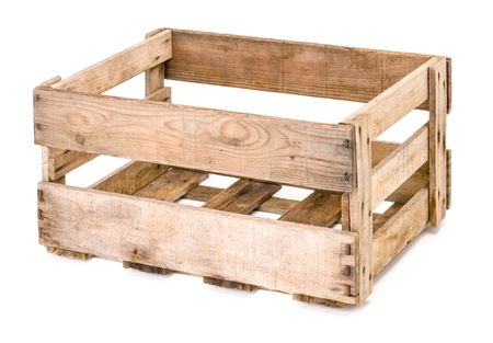 vintage wooden wine crate photo