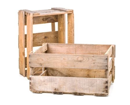 vintage wooden wine crates photo