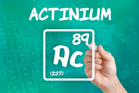 Symbol for the chemical element actinium photo
