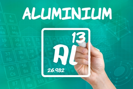 Symbol for the chemical element aluminium Stock Photo - 21871710