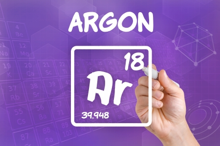 Symbol For The Chemical Element Argon Stock Photo Picture And