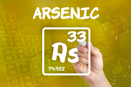 Symbol for the chemical element arsenic photo