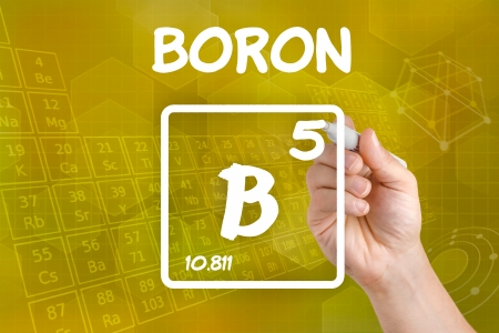 boron: Symbol for the chemical element boron Stock Photo
