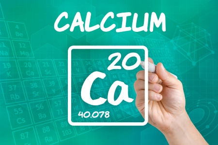 supplements: Symbol for the chemical element calcium
