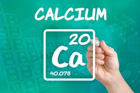 symbole chimique: Symbole de l'élément chimique calcium Banque d'images