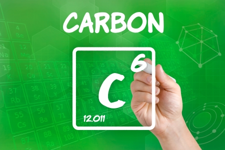 Symbol for the chemical element carbon photo