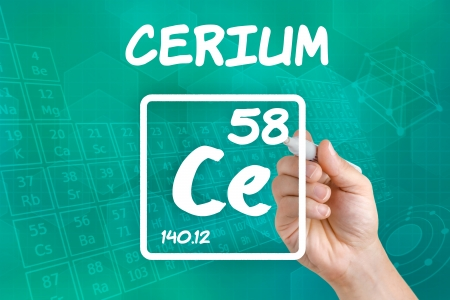 lanthanide: Symbol for the chemical element cerium