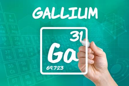 symbole chimique: Symbole de l'élément chimique de gallium