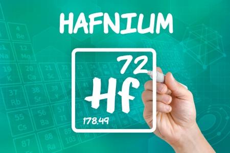 hf: Symbol for the chemical element hafnium