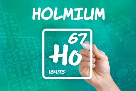 lanthanide: Symbol for the chemical element holmium Stock Photo