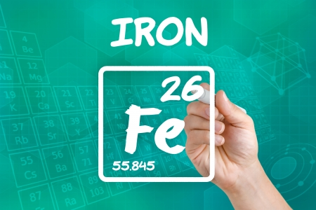 supplements: Symbol for the chemical element iron