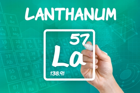 Symbol for the chemical element lanthanum Stock Photo - 21871746