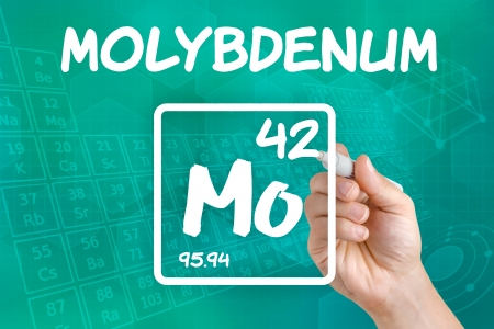 atomic number: Symbol for the chemical element molybdenum