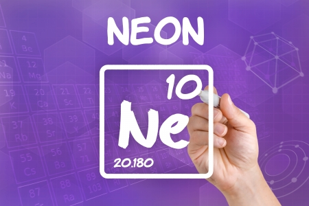 ne: Symbol for the chemical element neon Stock Photo