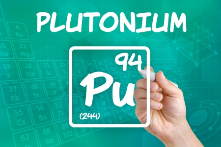 Symbol For The Chemical Element Plutonium Stock Photo Picture And