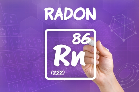 Symbol for the chemical element radon photo