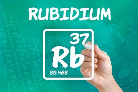 photocell: Symbol for the chemical element rubidium