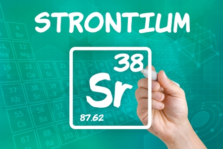 strontium: Symbol for the chemical element strontium