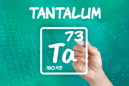 Symbol for the chemical element tantalum Stock Photo - 21845011