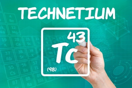 Symbol for the chemical element technetium photo