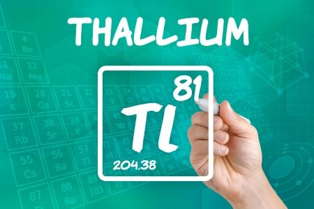 symbole chimique: Symbole du thallium élément chimique