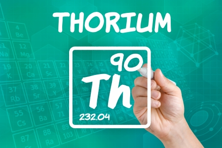Symbol for the chemical element thorium photo